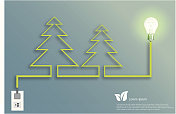 Creative light bulb tree Christmas