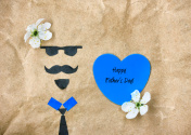 Father's day concept greeting card