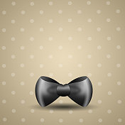 black bow tie for Father's Day