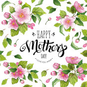 Happy Mother's Day card with apple flowers