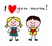 Kids drawing -  mother day greeting card