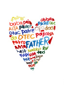 Happy father's day elements set watercolor illustrated