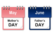 Calendar - Mother's Day and Father's Day
