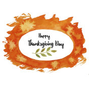 Thanksgiving Day. Watercolor illustration, painted by hand with watercolor and brush manually