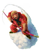 Monkey of Journey to the West flies with cloud.