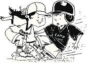 Kids Playing Softball