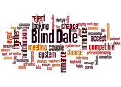Blind date word cloud concept 2