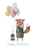 A Happy Birthday fox