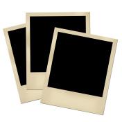 Blank photos isolated on white.