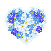 Heart Shape of Forget Me Not Flowers