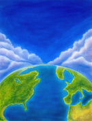 Top of the World - Earth and Sky Background