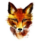 Red Fox Portrait.Watercolor