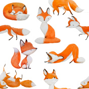 seamless pattern with cute fox
