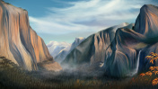Idyllic Yosemite National Park - Digital Painting