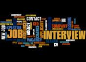 Job Interview, word cloud concept