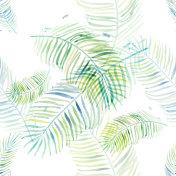 fern leaves seamless background