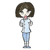 cartoon doctor woman