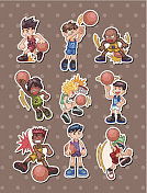 basketball player stickers