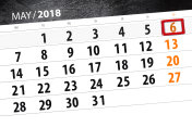 The daily business calendar page 2018 May 6