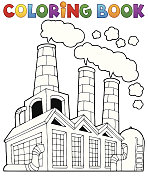 Coloring book factory theme 1