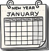 calendar of new year cartoon