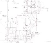 blueprint close-up