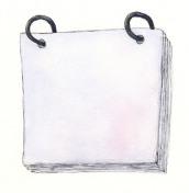 Blank watercolor flip calendar