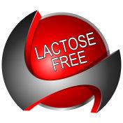 Lactose free Button - 3D illustration