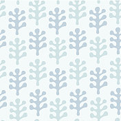 Neutral pattern with decorative leaves