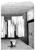 Antique illustration of room for fabric whitening