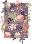 Hibiscus Tropical Print