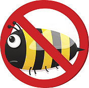 No bee sign.