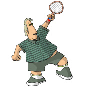 Chubby Tennis Player