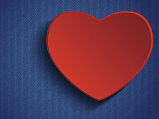 Valentines Day Heart in Jeans Background