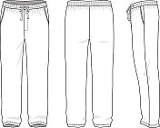 Blank men's sweatpants