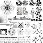 technology theme design elements