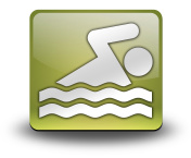 Icon, Button, Pictogram Swimming