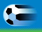 soccer ball on grass.eps