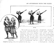 Victorian illustration blind girls skating and performing drill