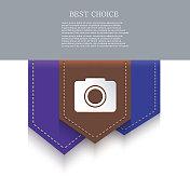 Vector bookmark icon. Eps10