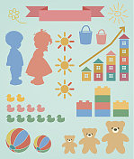 Children toy infographic set
