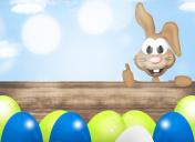 Modern Easter Eggs Design easter bunny