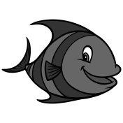 Tropical Fish Cartoon Illustration