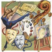 The graphic illustration of arts
