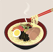 Japanese ramen noodles.