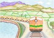 Diesel train digital pixel painting