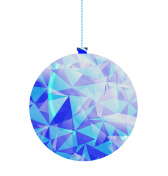 low poly christmas bauble