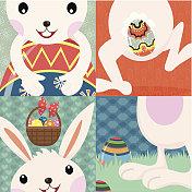 Retro Easter Day Bunny