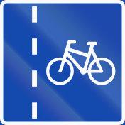 Norwegian regulatory road sign - Bicycle lane