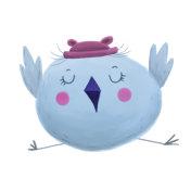 Cute bird. Bird icon.